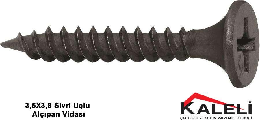 OSB-Alçıpan Vidası Sivri Uçlu 3,5x3,8 cm (1000 Ad.)