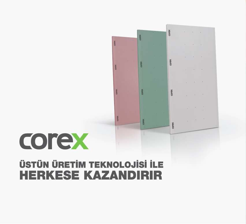 Corex Yeşil Alçı Levha