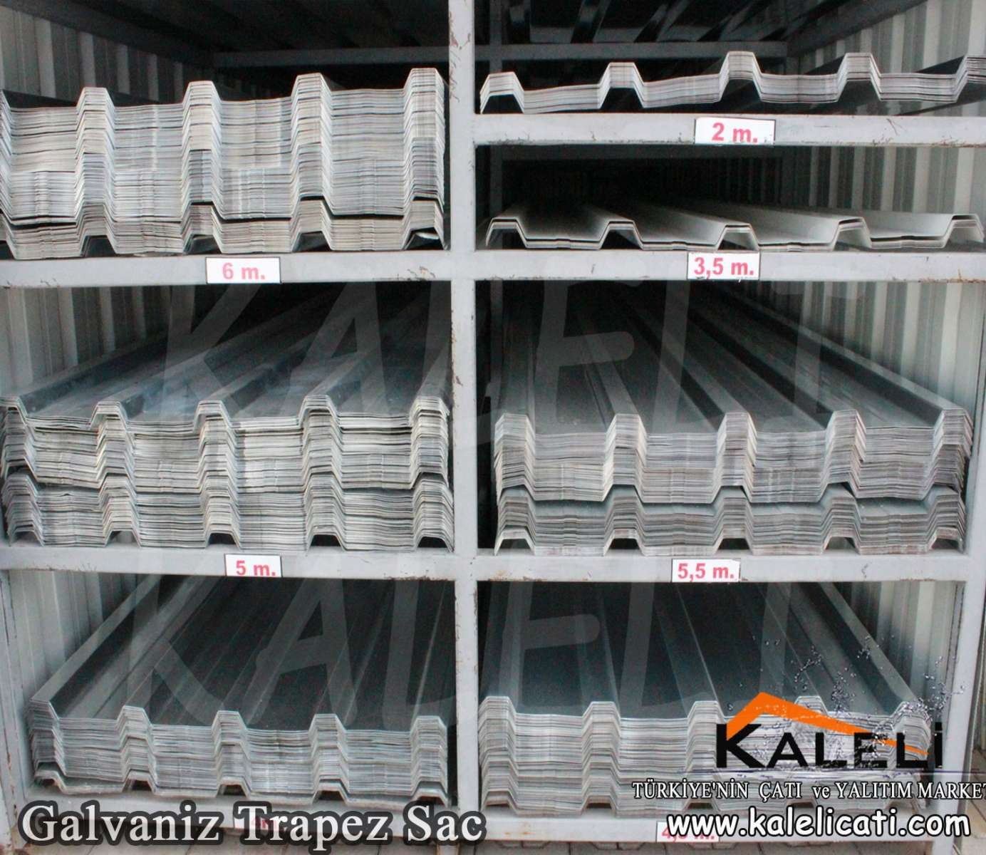 Galvaniz Trapez sac 86 cm 0,50 mm