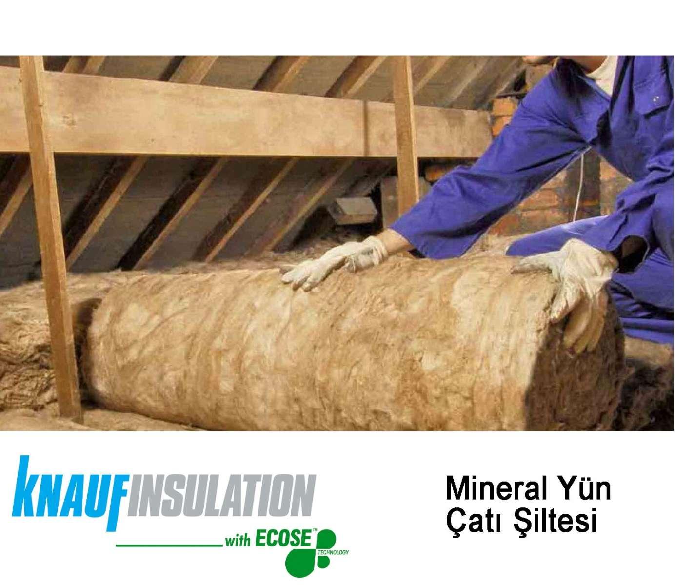 Knauf Mineral Yün Çatı Şiltesi Folyolu 10 cm