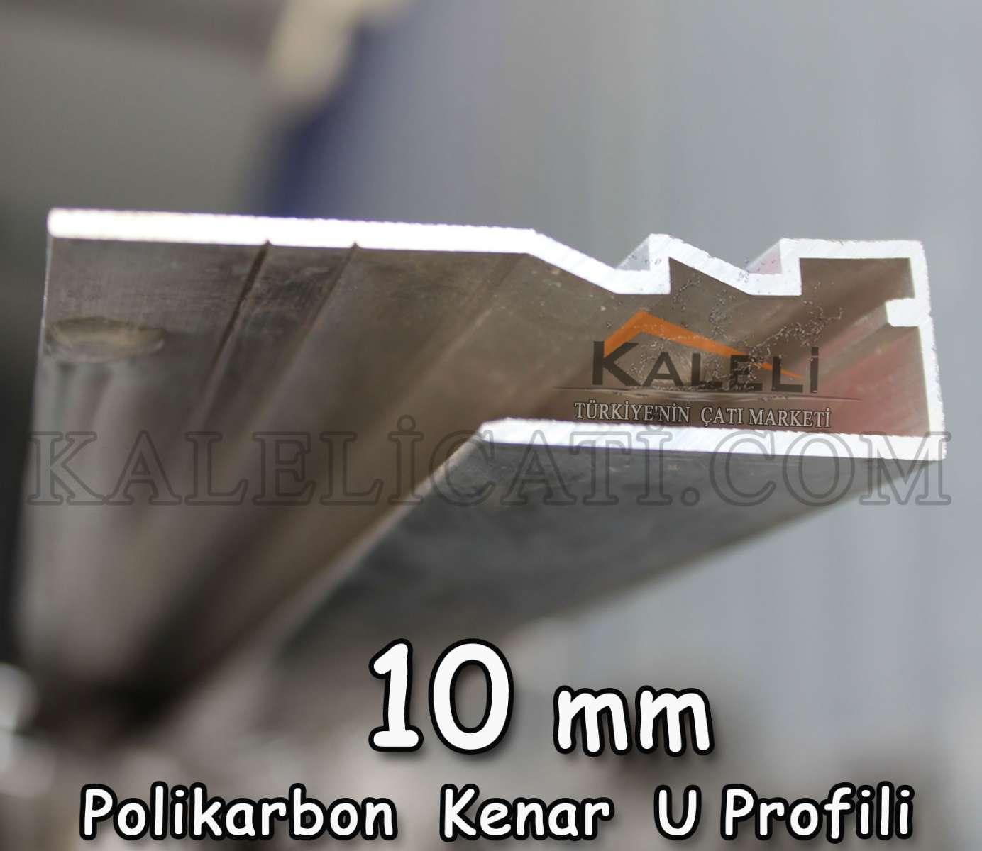 POLİKARBON KENAR PROFİLİ 10 MM- 6 m.