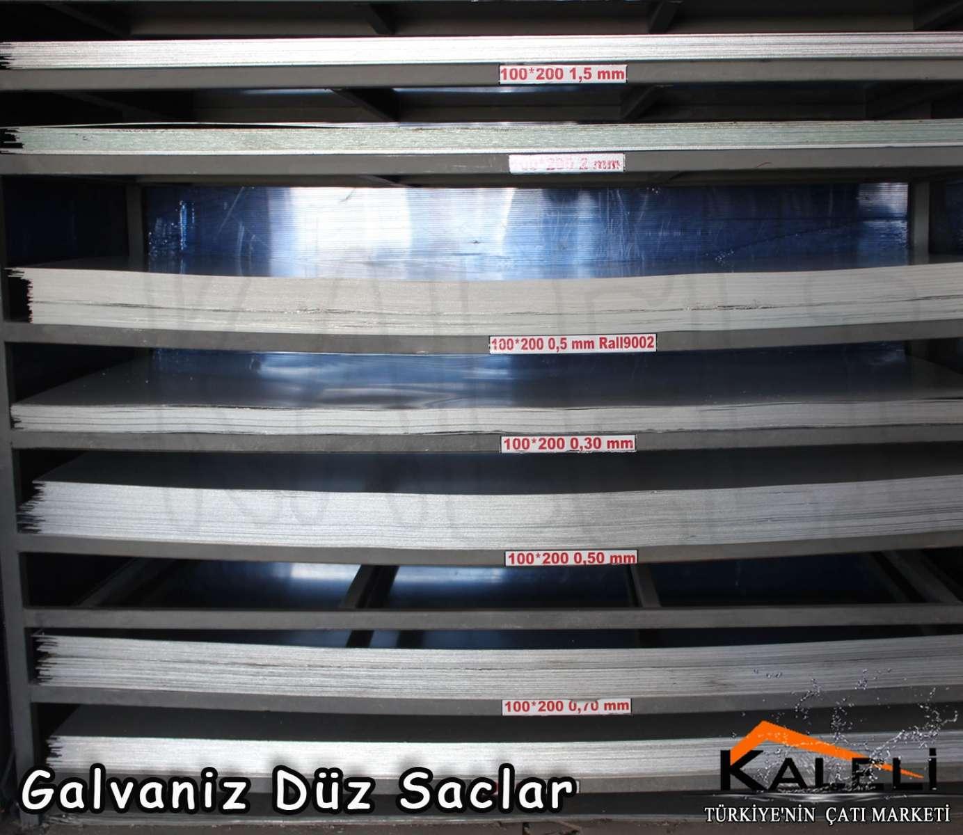 0,70 mm Galvaniz Düz Levha 1000*2000