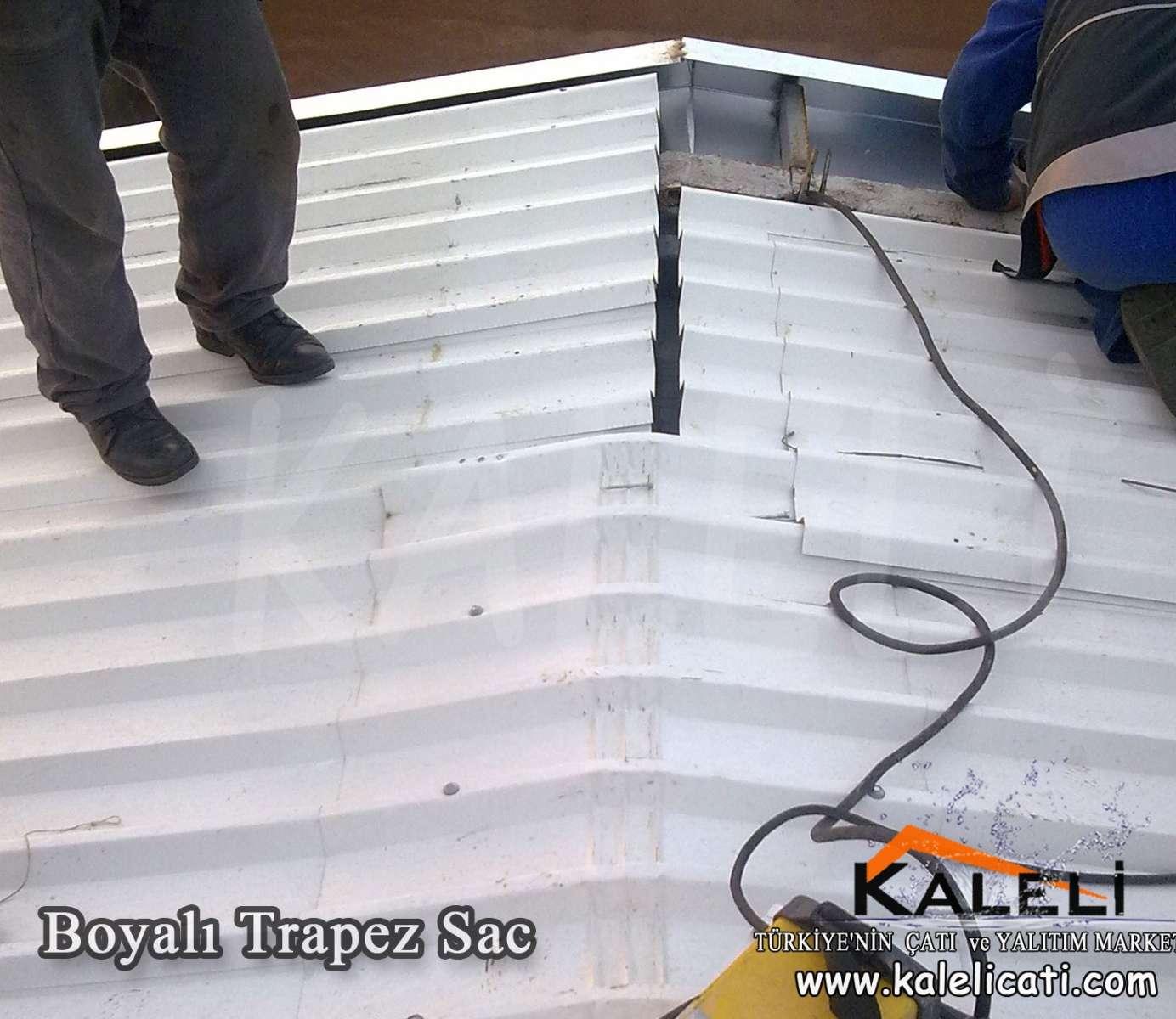 Beyaz Boyalı Trapez 87 cm 0,50 mm