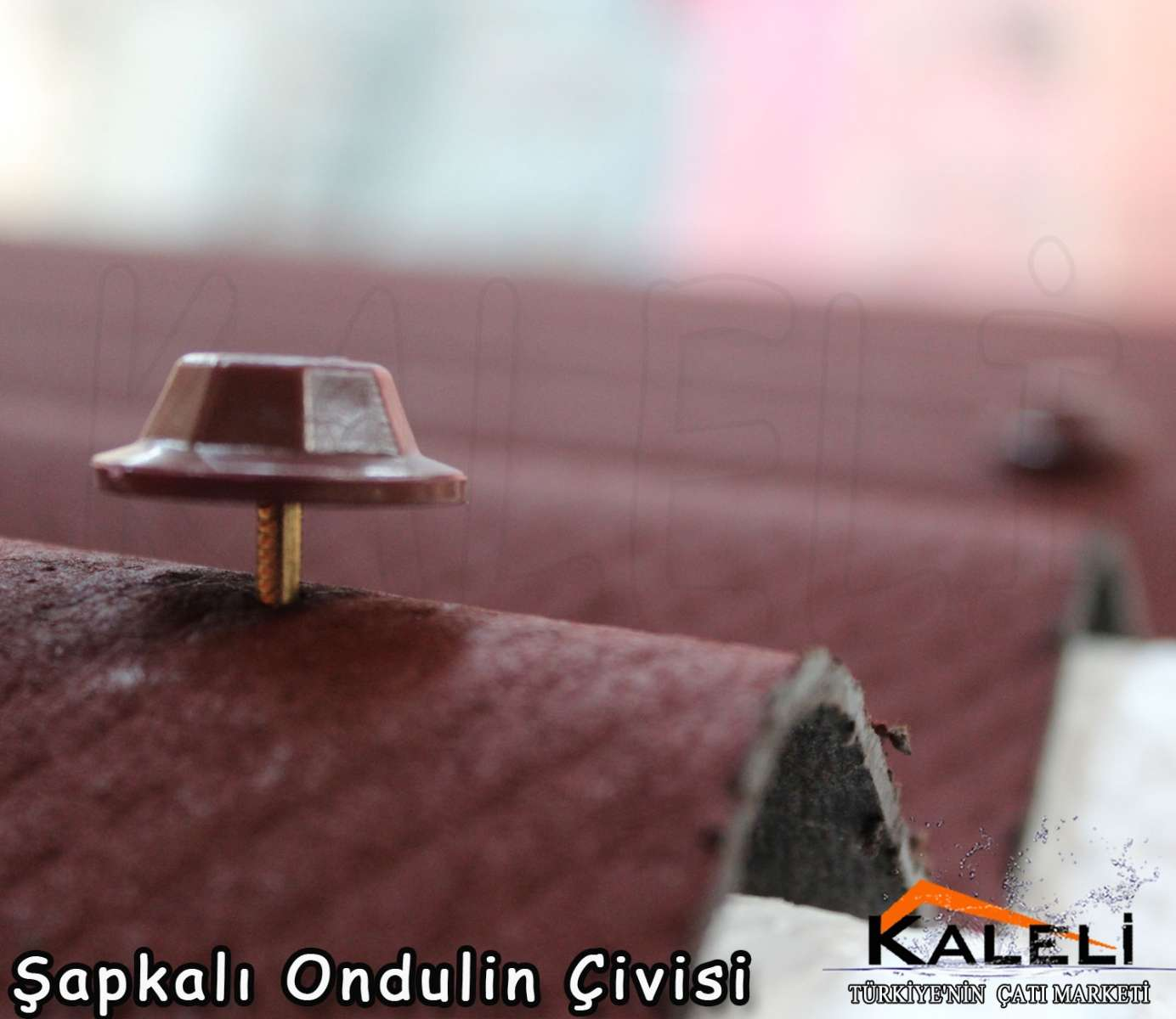 Şapkalı Onduline Çivisi 8 cm