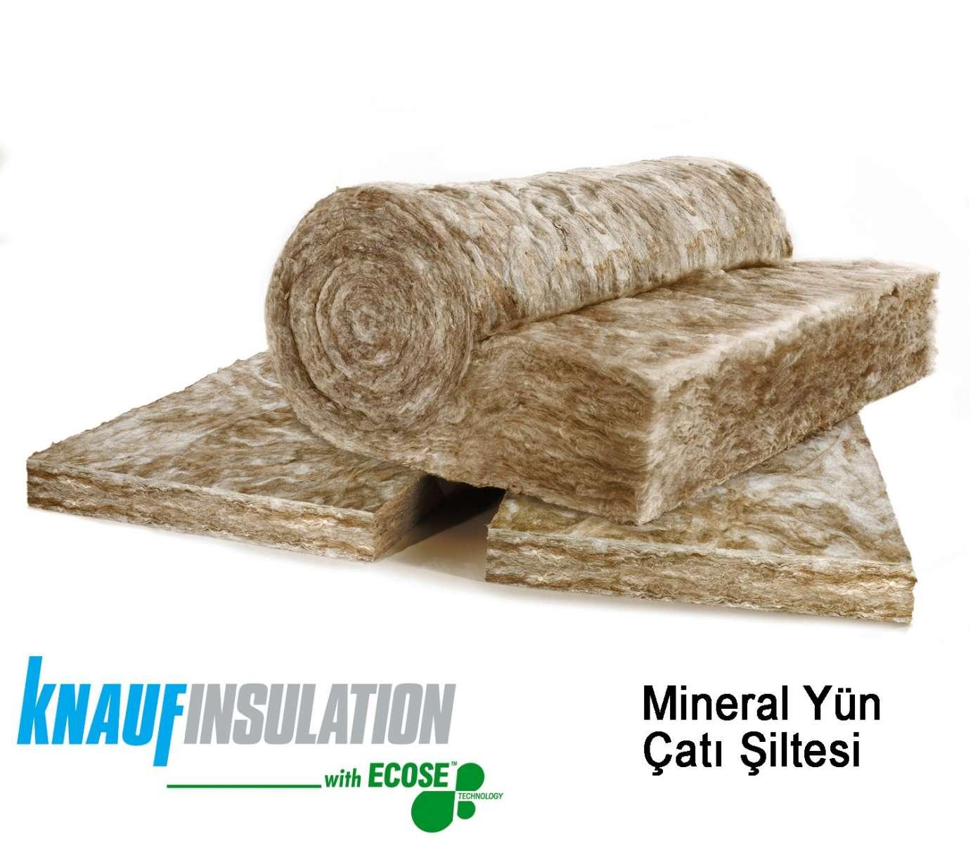 Knauf Mineral Yün Çatı Şiltesi Çıplak 10 cm