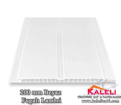200 mm Beyaz Fugalı Pvc Lambiri