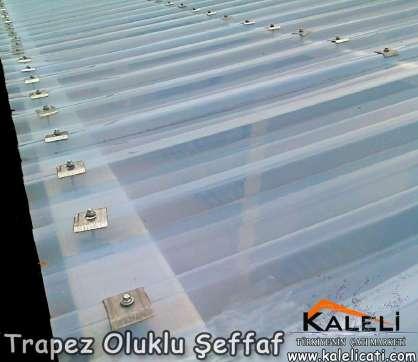 PVC Trapez Oluklu Şeffaf 1,1 mm