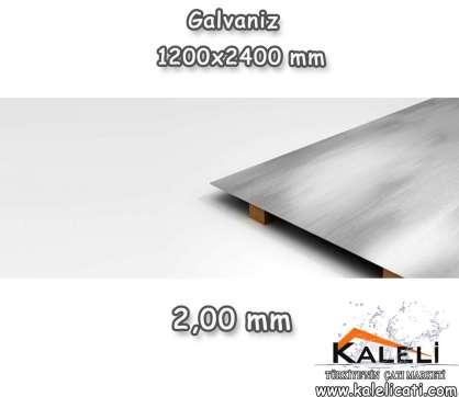 2,0 mm Galvaniz Düz Levha 1200*2400